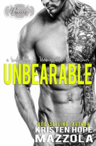 Book Cover: Unbearable (An Unacceptable MC Novella) by Kristen Hope Mazzola